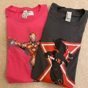 Women's female superhero t-shirt bundle size small